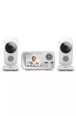 """Motorola MBP483-2 2.8"""" Video Baby Monitor with Two Cameras NEW"""
