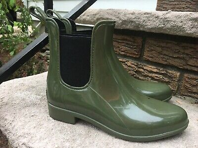 finest selection timeless design search for genuine WOMENS J CREW MATTE CHELSEA RUBBER RAIN BOOTS OLIVE CAMO US Size 5