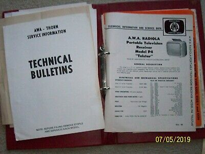 Vintage Service manuals and circuits for 1960-1970 Black and white televisions