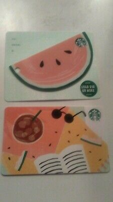Starbucks Card 2019 Summer Picnic Blanket & Watermelon Die Cut