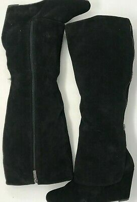 6e598047353 WOMENS JESSICA SIMPSON Rallie Black Suede Zip Up Wedge Boots Size 10 M 40