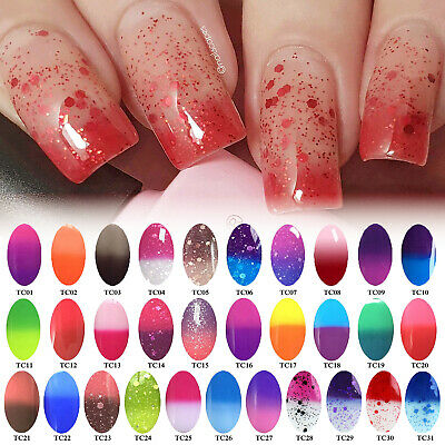 AIMEILI Thermal Color Changing Soak Off UV LED Gel Nail Polish Base Top Coat AU