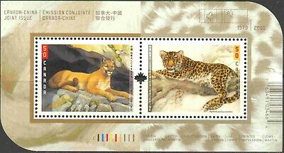 2005 Canada #2123b Mint NH Souvenir Sheet Big Cats Joint Issue With China