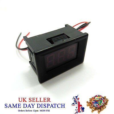 "DC 3V-30V Voltmeter 0.36"" Red LED 3 Wire Digital Voltage Meter Volt Car Panel"