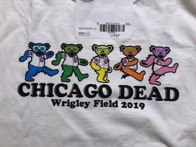 Grateful Dead and Company Chicago Cubs Dancing Bears Wrigley 2019 T Shirt 3XL