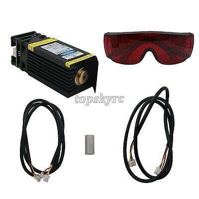 15W Laser Head 15000mW Blue Laser Module for CNC Engrave Machine Cutter PWM tEU