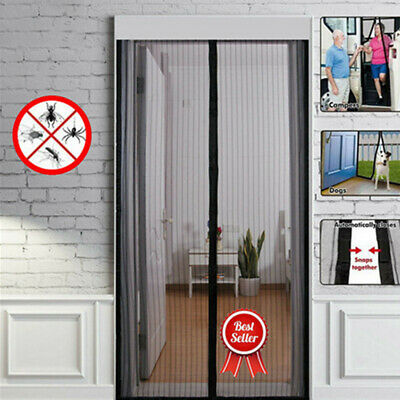 Magic Magnetic Door Mesh Curtain Insect Bug Fly Mosquito Guard Net Screen