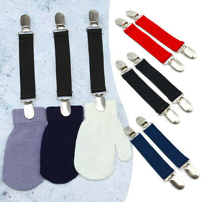 New Clips N Grips Toddler Elastic Glove Color Mitten Clips Nickel Clip Closures
