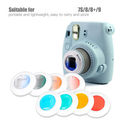 For Fujifilm Instax Mini 7s/8+/9 Film Camera 4 Filters Close-Up Pure/Gradient BM