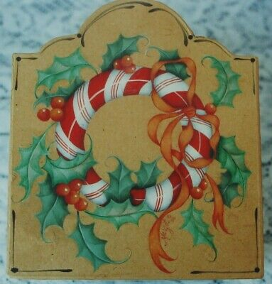 """Margot Clark tole painting pattern """"Candy Cane Wreath"""""""