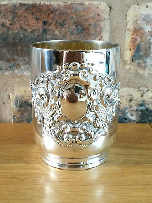 Antique Victorian 1895 Silver & Gilt Christening Cup by George Maudsley Jackson