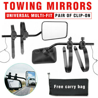 2x Universal Multi Fit Towing Mirrors Pair Adjustable For Caravan 4X4 Trailer AU