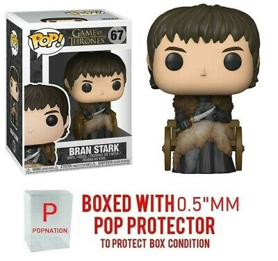 "Funko Pop Game of Thrones : Bran Stark #67 Vinyl w/0.5mm Case ""MINT"""