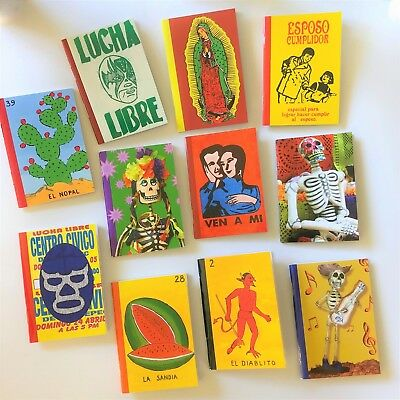 New Mexican Retro Kitsch Notepad Mini Diary Vintage Design Blank Pages notebook