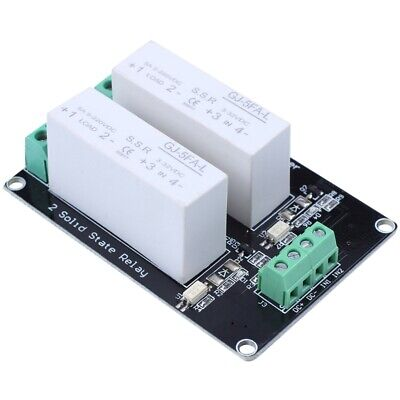 2X(3-32V DC 2 Channel SSR Solid State Relay high-low trigger 5A 5v12v For A H1F5