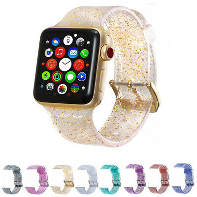 625192ed8 Silicone Glitter Bling Strap Watch Band for Apple Watch iWatch Series 1/2/3