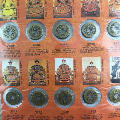 10pcs Ten Emperors Coin Chinese Copper Cash Old Dynasty Antique Currency Collect