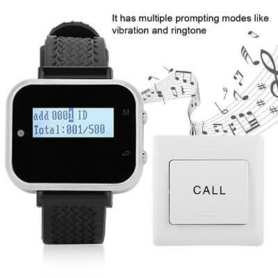 Wireless Restaurant Calling Pager System 1 Watch Receiver + 10* Buttons Service