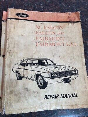 "Ford FALCON "" XC "" 1976-1979 incl. 'GT' genuine FACTORY SERVICE / REPAIR MANUAL"