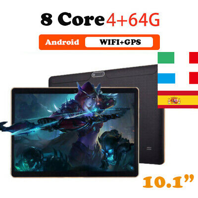"""10.1"""" WIFI Tablet PC Android6.0 Bluetooth PC 4+64G ROM 2SIM GPS Phone Pad IPS"""
