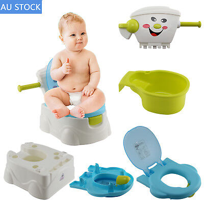 2 in 1 Kids Baby Toilet Training Children Toddler Potty Trainer Seat Chair