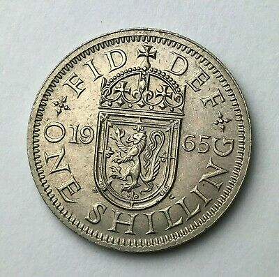Dated : 1965 - One Shilling - Coin - Queen Elizabeth II - Great Britain
