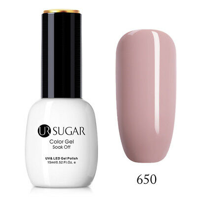 15ml UR SUGAR Dark Nude Nail UV Gel Polish LED Gel Nail Varnish Shiny #650