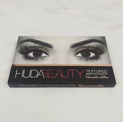 Authentic Huda Beauty The Rose Gold Original Edition Textured Eyeshadow Palette