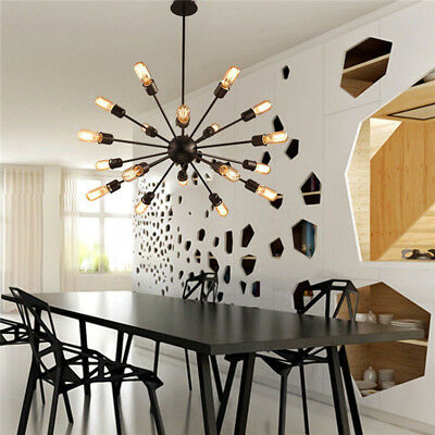E27 Living Room Lights Ceiling Fixtures Chandelier Vintage Metal Pendant Lamps