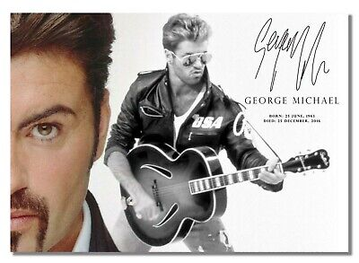 Tribute Signed - A4 #56 copy 297mm x 210mm George Michael poster