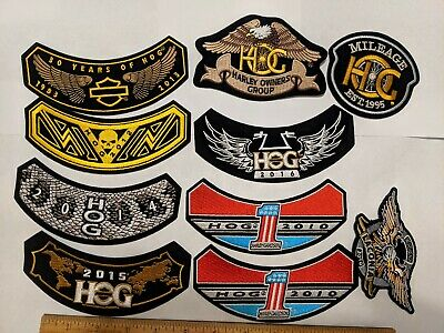 11 Lot Harley Davidson Patches Hog