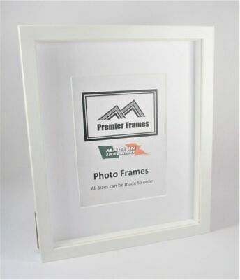 Shadow Box Frame White / Black Solid Wood Wood Grain with 18mm spacer