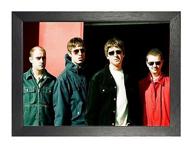 Oasis 6 English Rock Band Poster Gallagher Music Legend Star Photo Old Picture