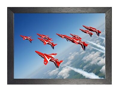 Red Arrows 20 RAF Aerobatic Team Formation Photo Sky Action Shot Poster Print