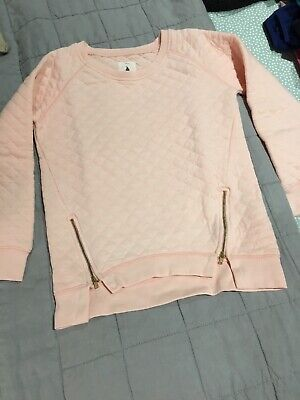 Country Road Girls Size 10 Pink Jumper With Zips EUC