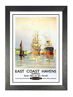 Porthcawl British Railway Travel Advert Old Vintage Retro Picture Poster