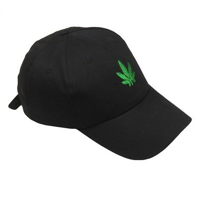 Embroidery Maple Leaf White Cap Weed Hats for Men Women Cotton Special Useful