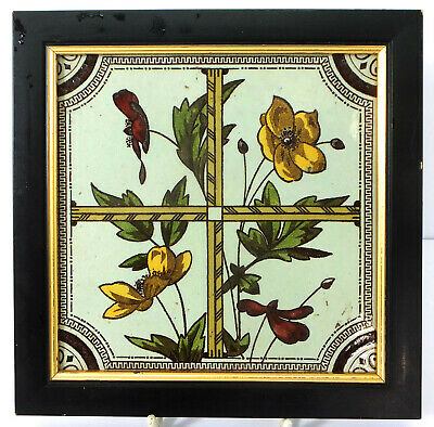 """Framed 6"""" hand painted Sherwin & Cotton Aesthetic tile"""