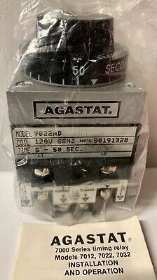 (LAST 1!) NEW AGASTAT 7022AD 5-50 Sec Relay SHIPS TODAY WITH 6 MON WARRANTY!