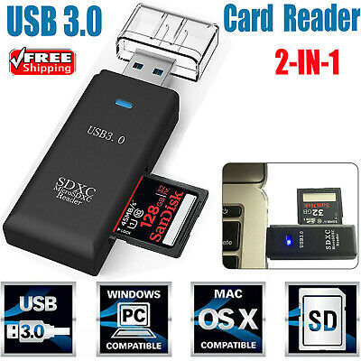 USB3.0 SD Memory Card Reader High Speed SDHC SDXC MMC Micro SD Mobile T-FLASH TO