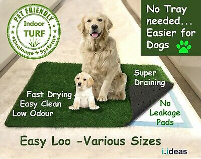 EASY LOO Indoor Dog Grass Toilet Puppy Potty Mat + Training Pads + Poop Bags