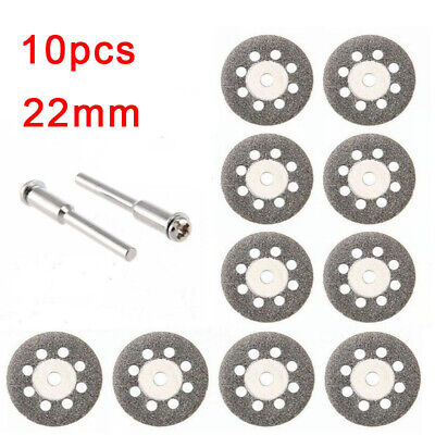UK Mini Diamond Cutting Discs Wheel Blades Set+Drill Bit For Dremel Rotary Tool