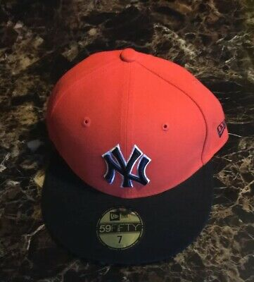 499d06445fef70 New York Yankees New Era 59Fifty Official Fitted MLB Hat/Cap Size 7 orange