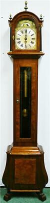 Vintage Walnut 3 Weight Musical Westminster Chime Longcase Grandmother Clock