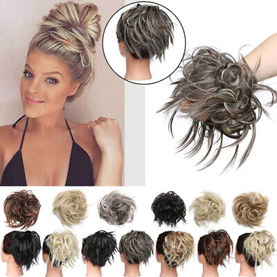 Large Messy Bun Hair Piece Extra Thick Scrunchie Cover Hair Extension For Human