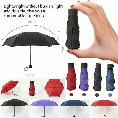 Excellent Folded Pocket Umbrella Small Super Light Five-fold Bag Windproof New