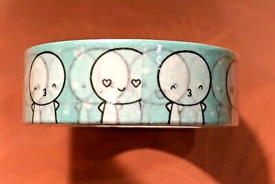 NIP TCMC The Coffee Monsterz Co washi tape blue emoti 15 mm NEW HTF sold out