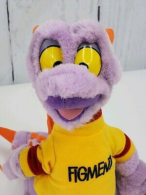 "10"" Disneyland WALT DISNEY WORLD Figment Plush Stuffed Purple Dragon w/ Shirt"