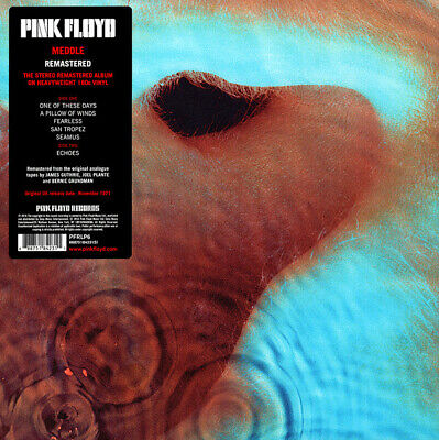 Pink Floyd Meddle 180g LP 2016 Remastered Reissue New Factory Sealed