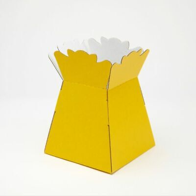 HAND TIED FLOWER BOUQUET PLANT BOX - YELLOW Sweets Gifts Transporter Container